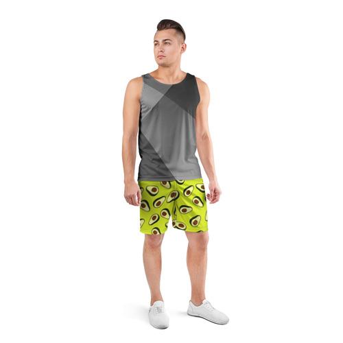 Мужские шорты 3D спортивные  Фото 04, Авокадо