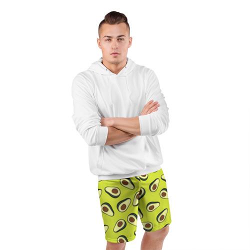 Мужские шорты 3D спортивные  Фото 05, Авокадо