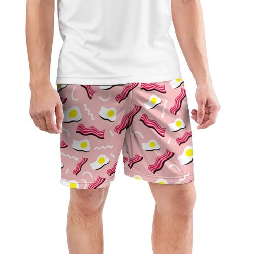 Мужские шорты 3D спортивные  Фото 03, Breakfast