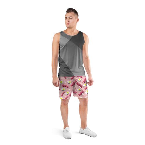 Мужские шорты 3D спортивные  Фото 04, Breakfast