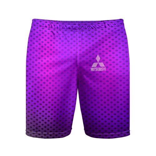 Мужские шорты 3D спортивные  Фото 01, MITSUBISHI неоновый карбон