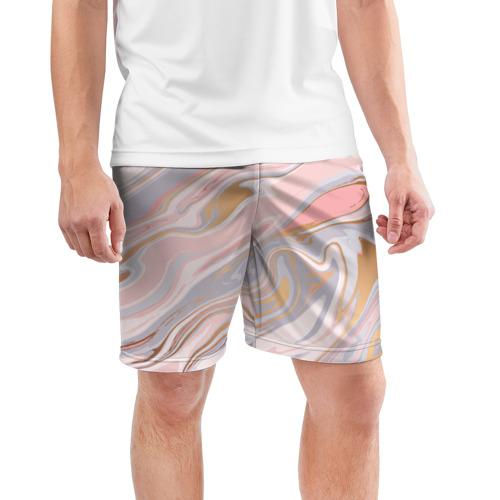 Мужские шорты 3D спортивные  Фото 03, Нежные краски