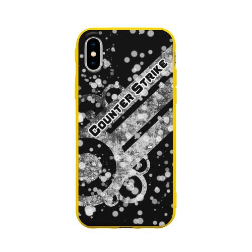 Чехол для Apple iPhone X силиконовый матовый Counter Strike White Style Фото 01