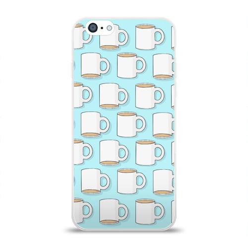 Чехол для Apple iPhone 6 силиконовый глянцевый  Фото 01, Coffee