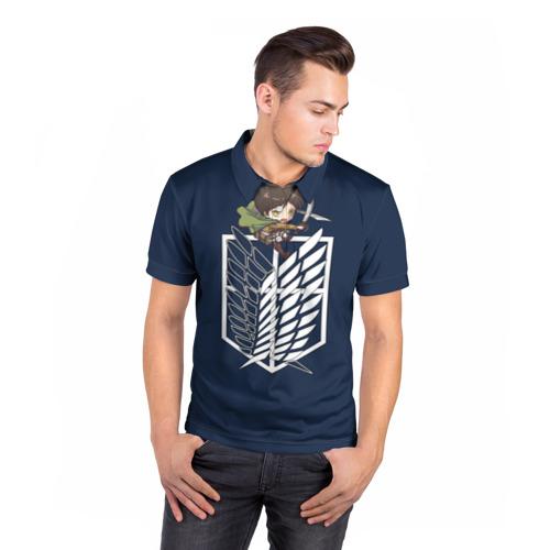 Мужская рубашка поло 3D  Фото 05, Эрен Йегер