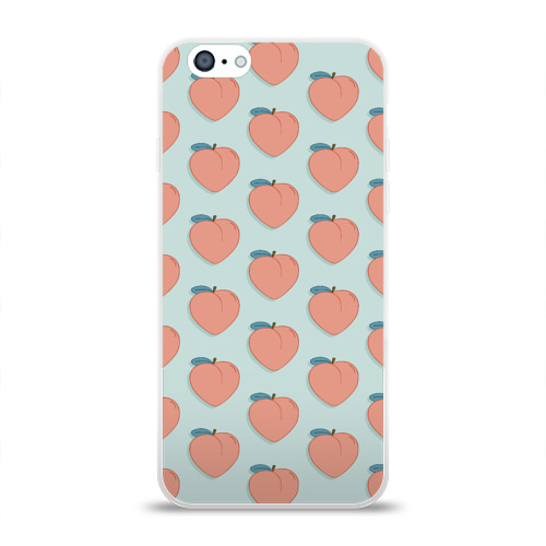 Чехол для Apple iPhone 6 силиконовый глянцевый  Фото 01, Peaches