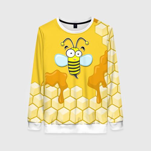 Женский свитшот 3D Пчелка Фото 01