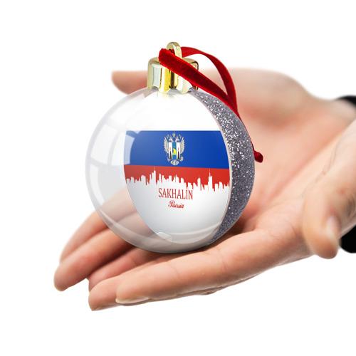 Ёлочный шар с блестками  Фото 03, Сахалинская область