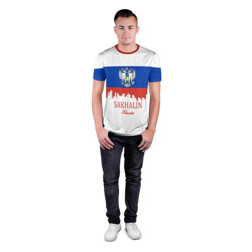 Мужская футболка 3D спортивная Сахалинская область Фото 01