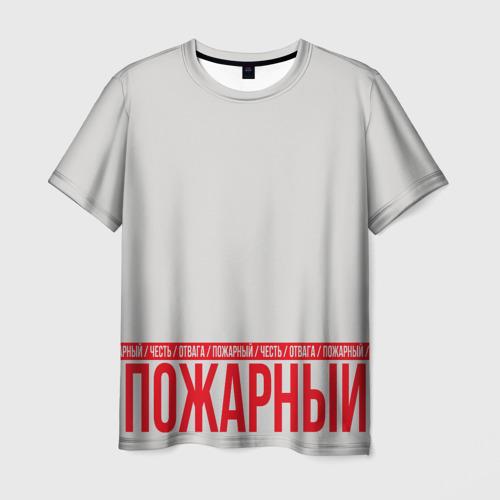 Мужская футболка 3D  Фото 03, Пожарный