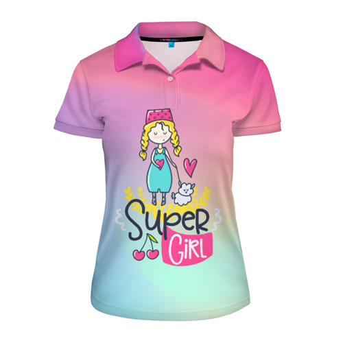 Женская рубашка поло 3D SUPER GIRL