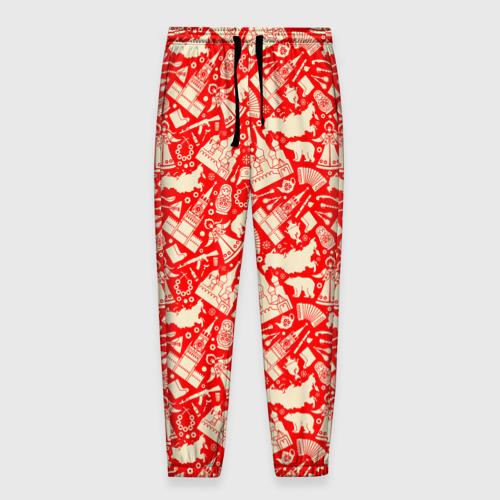 Мужские брюки 3D Русские символы Фото 01