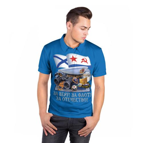 Мужская рубашка поло 3D  Фото 05, За Флот