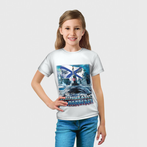 Детская футболка 3D  Фото 03, Северный Флот