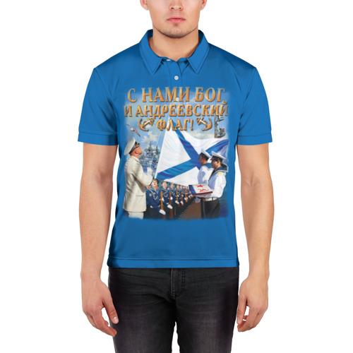 Мужская рубашка поло 3D  Фото 03, Андреевский флаг
