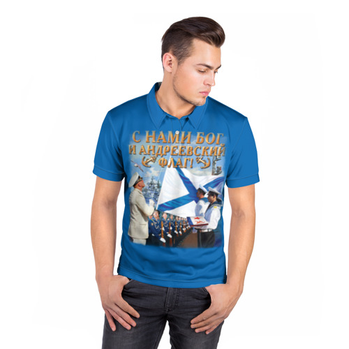 Мужская рубашка поло 3D  Фото 05, Андреевский флаг