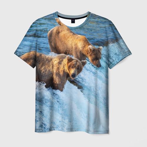 Мужская футболка 3D  Фото 01, Вода