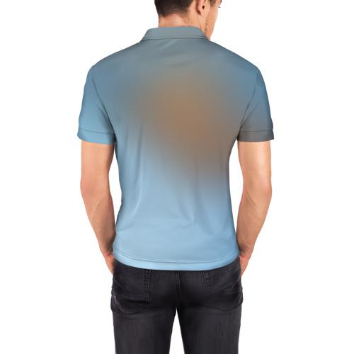 Мужская рубашка поло 3D  Фото 04, Вода
