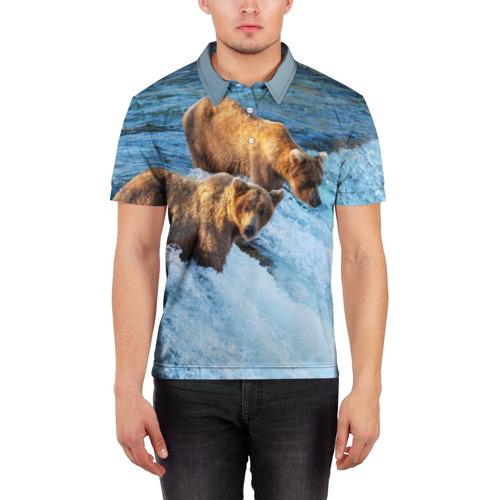 Мужская рубашка поло 3D  Фото 03, Вода