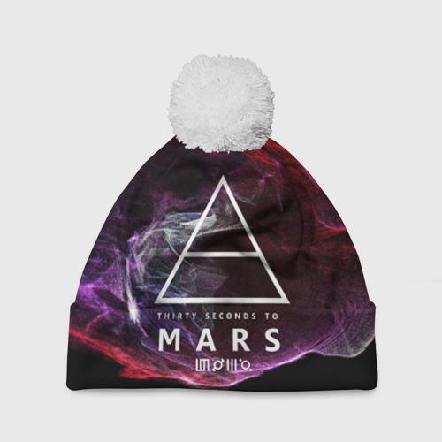 Шапка 3D c помпоном  Фото 01, 30 Seconds to Mars
