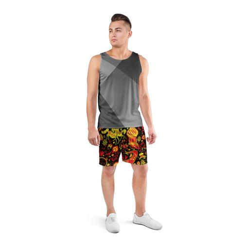 Мужские шорты 3D спортивные  Фото 04, Орнамент - Россия