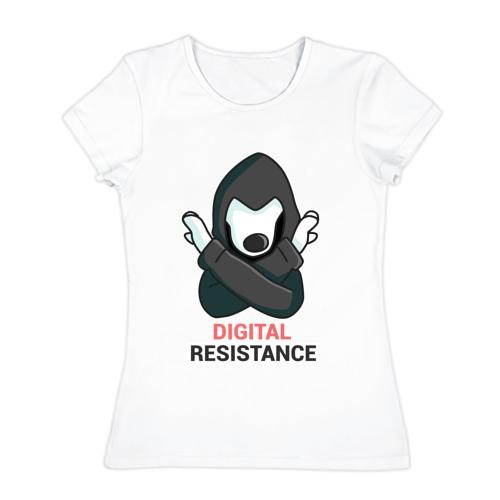 Женская футболка хлопок  Фото 01, Digital Resistance Dog