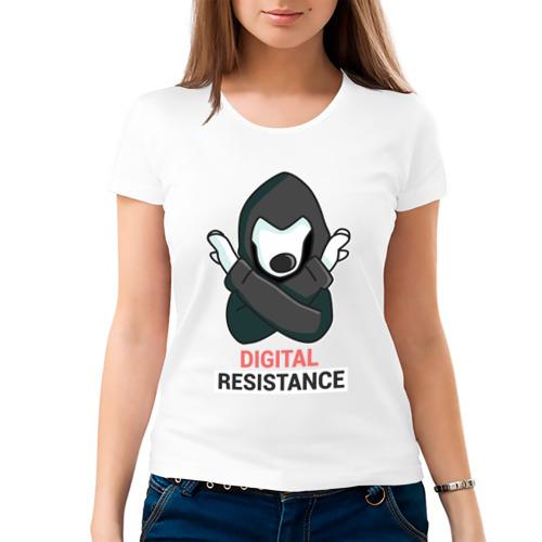 Женская футболка хлопок  Фото 03, Digital Resistance Dog