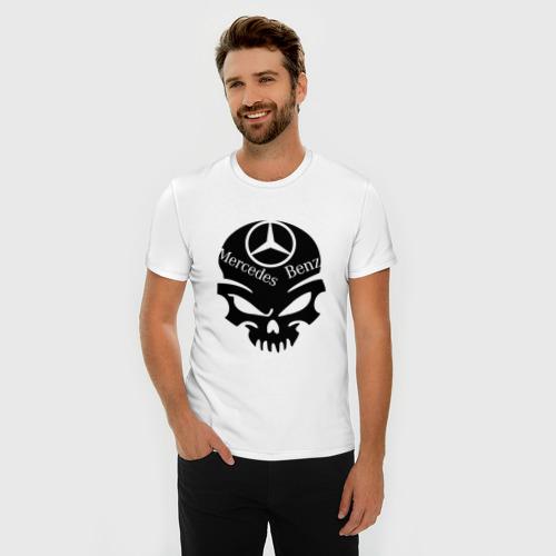 Мужская футболка премиум Mercedes - Benz