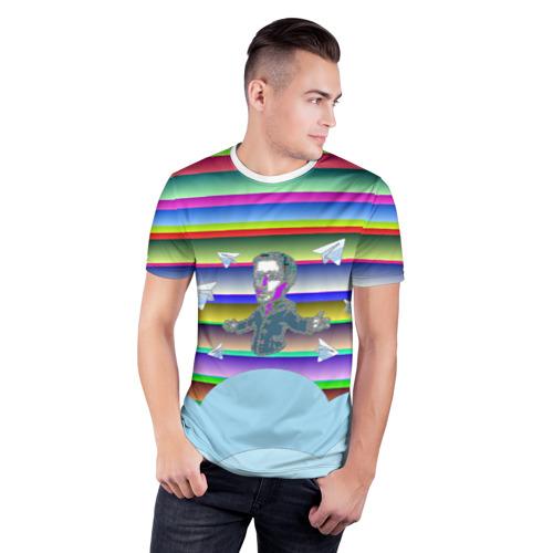 Мужская футболка 3D спортивная  Фото 03, Telegram