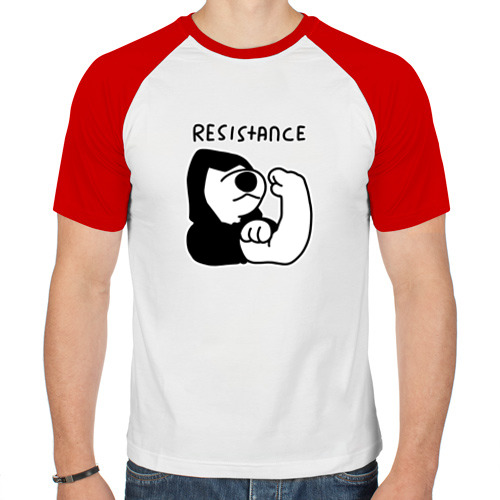 Мужская футболка реглан  Фото 01, Resistance