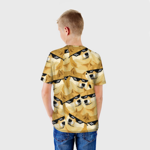 Детская футболка 3D  Фото 02, Doge мем в deal with it очках
