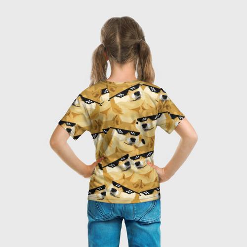 Детская футболка 3D  Фото 04, Doge мем в deal with it очках