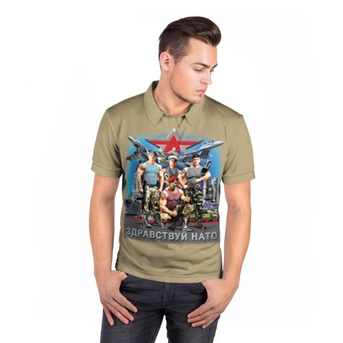 Мужская рубашка поло 3D  Фото 05, Здравствуй НАТО