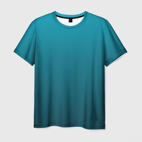 Мужская футболка 3D  Фото 01, Бирюза