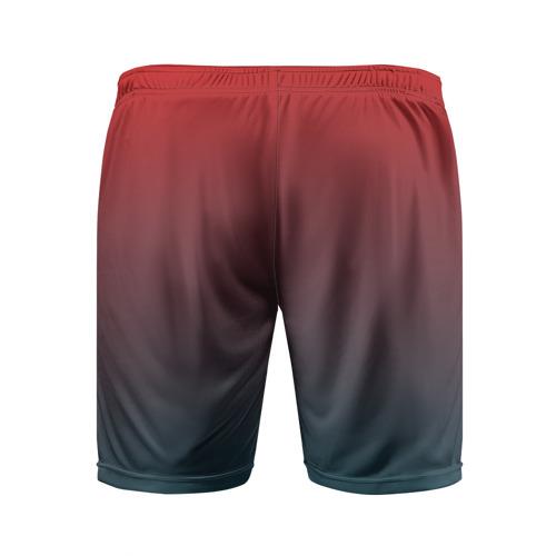 Мужские шорты 3D спортивные  Фото 02, Алый
