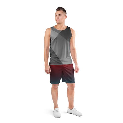 Мужские шорты 3D спортивные  Фото 04, Алый