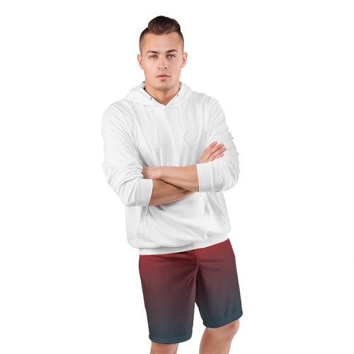 Мужские шорты 3D спортивные  Фото 05, Алый