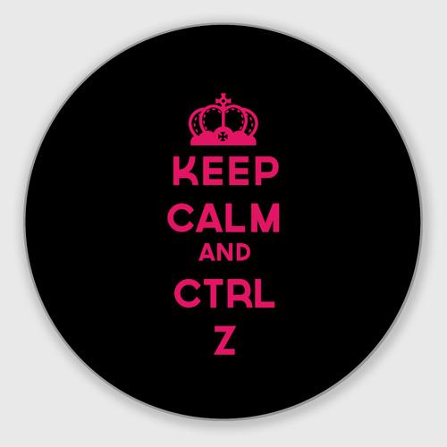 Коврик круглый  Фото 01, Keep calm and ctrl z