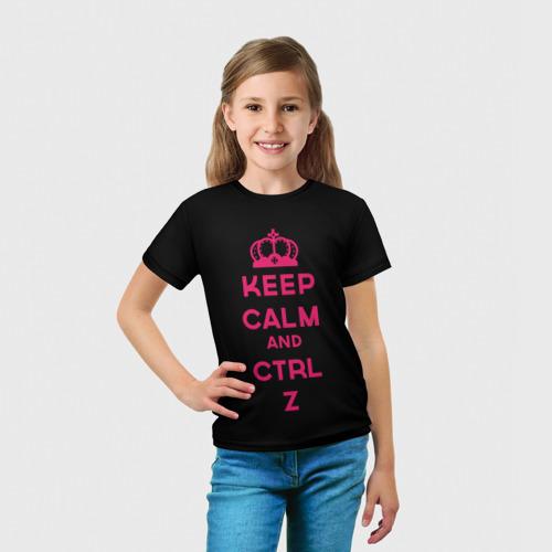Детская футболка 3D  Фото 03, Keep calm and ctrl z