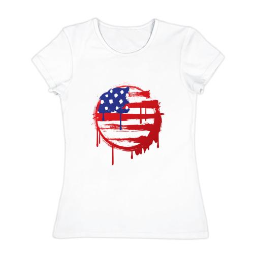 Женская футболка хлопок  Фото 01, Америка