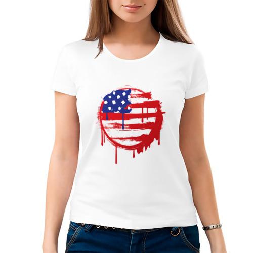 Женская футболка хлопок  Фото 03, Америка