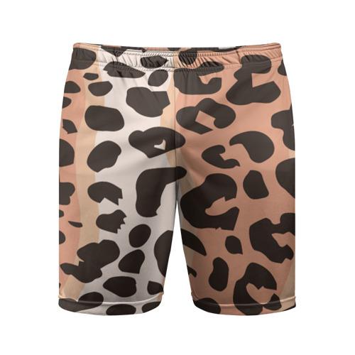 Мужские шорты 3D спортивные  Фото 01, Леопард