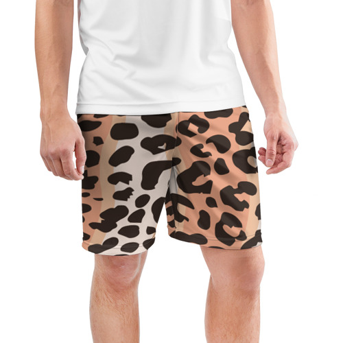 Мужские шорты 3D спортивные  Фото 03, Леопард