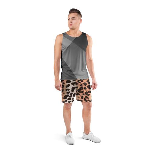 Мужские шорты 3D спортивные  Фото 04, Леопард