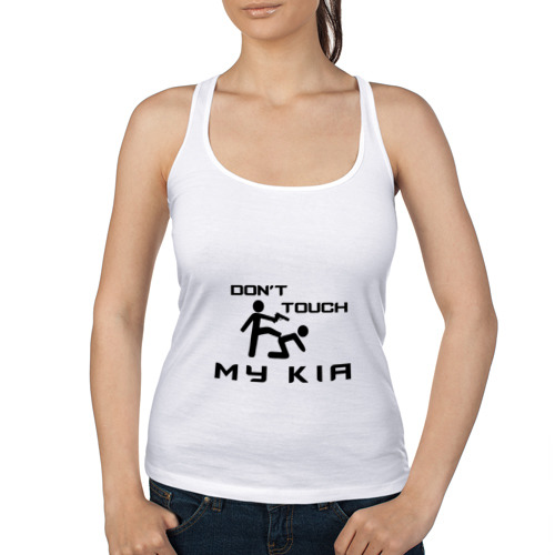 Женская майка борцовка  Фото 01, Don't touch my Kia