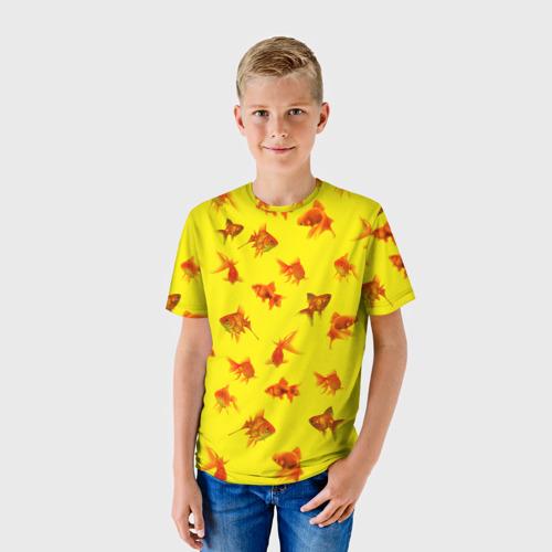 Детская футболка 3D  Фото 01, Золотая рыбка