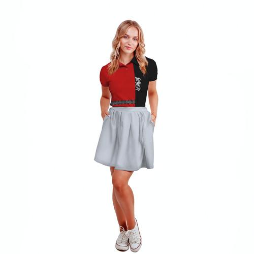 Женская рубашка поло 3D  Фото 04, Slayer