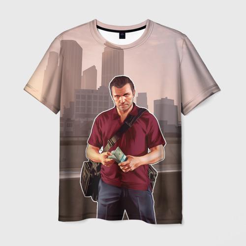 Мужская футболка 3D  Фото 01, GTA V - Майкл