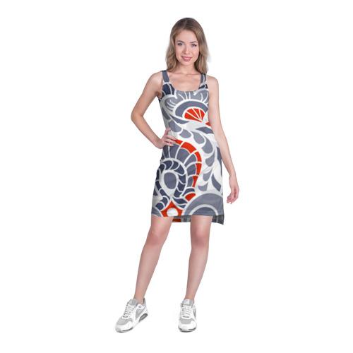 Платье-майка 3D  Фото 03, Цветочный узор