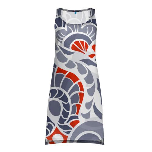 Платье-майка 3D  Фото 01, Цветочный узор
